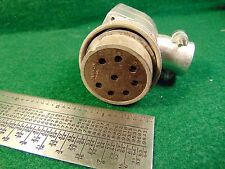 (1) Cannon NK-M8-23 Plug for Bendix ATD Dynamotor USED