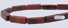 Red Tiger Eye 4x13mm Rectangle Stone Beads (approx. 16 inch strand)