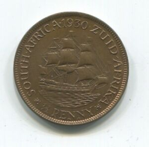 SOUTH AFRICA HALF PENNY 1930 UNC NICE LUSTER