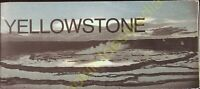Vintage Travel Brochure Yellowstone Wyoming National Park Service Map 1975