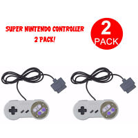 2 Pack Original Remote Controller Video Game Pad For Super Nintendo SNES System