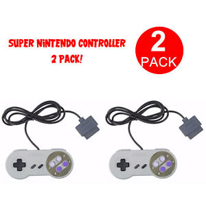 2 FOR New Super Nintendo SNES System Console Replacement Controller 6FT SNS-005