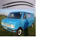 (x2) Bedford CF Van Delantero Manguera De Freno Mangueras Tubos (1969 - 80)