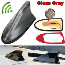 Universal Gloss Gray Car Shark Fin FM/AM Radio Signal Antenna Auto Roof Aerial