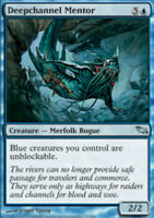 Deepchannel Mentor - Foil - Shadowmoor - LP, English MTG Magic FLAT RATE SHIP