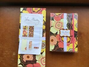 Vera Bradley note card folio and petite folio stationary set buttercup NIP, NWOP