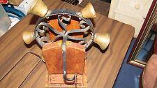 Antique wrought iron Brass hand-crank Bell doorbell Victorian