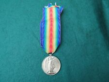 WW 1 1914 - 1919 VICTORY MEDAL TO 185853 GNR. A. FITTON. R.A.