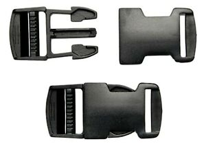 Delrin Plastic Side Release Buckle Clips Closures Bags Webbing 20-25-40-50mm