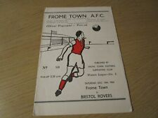 More details for frome town  v  bristol rovers  1955/6  ~ december 10th   local ' derby '