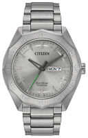 Citizen Eco-Drive Men's Brycen Day and Date Titanium Band 44mm Watch AW0060-54A