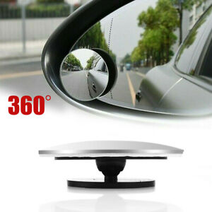 1pc Car Convex Mirror Blind Spot Auto Rearview Mirror 360° Wide Angle Accessory
