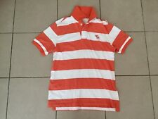 Abercrombie & Fitch   Soft Cotton   Muscle Polo Shirt   Orange x White    Size L