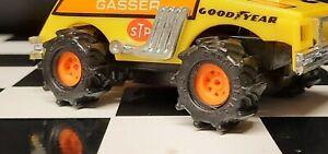 4 Tru Spoke Go-Mango Orange Schaper Stomper 4x4 Truck RIMS (3D Printed)
