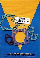 Suzuki Quad  LT50 LT 50 LT-A 50 Top End Gasket Set all years Mitaka