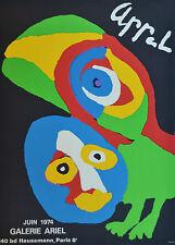 Affiche originale - APPEL - Galerie ARIEL - 1974