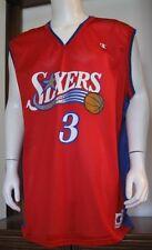 48 (54) Men Champion Allen Iverson Philadelphia 76ers Basketball Jersey Red EuC
