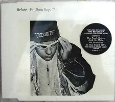 PET SHOP BOYS CD Before UK 'EMI SWINDON' Matrix CD #2 CHRIS w/ STICKER + POSTCRD