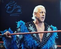 """Nature Boy"" Ric Flair 16x20 Hand Signed Color Photo CAS COA"