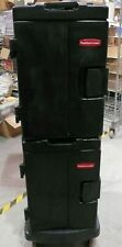 Rubbermaid Catermax commercial insulated food carriers with trolley.