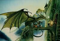 "Dragonspell Vintage Chris Achilleos 1986 Fantasy Poster Art Print 24"" x 36"""