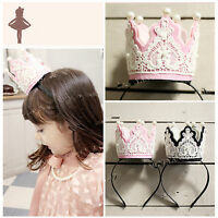 Girls Kids Children Princess Party Crown Tiara Costume Hair Head Band Hoop PROP