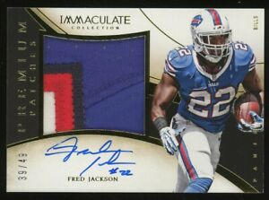 2014 Panini Immaculate Fred Jackson 4-Color Patch AUTO Bills 39/49