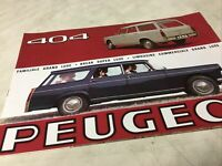 Peugeot 404 1965 berline et break catalogue prospectus brochure dépliant