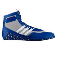 adidas Mat Wizard 3 Mens Adult Wrestling Trainer Shoe Boot Blue/White - UK 11