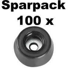 100 Gummifüße 20 x 9 stahlverstärkt Gummifuß Gerätefüße Möbelfüße Adam Hall 4903