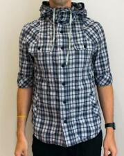 AllSaints Hooded Cotton Check Casual Shirts & Tops for Men
