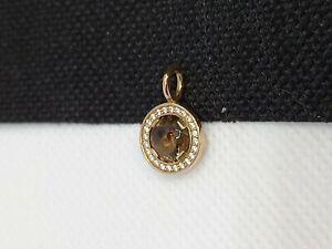 Thomas Sabo Rose Gold Smoky Quartz Diamonte Pendant