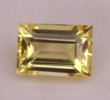 Natural Certified Ceylon Yellow Sapphire 6.30 Ct Baguette Cut Loose Gem Stone