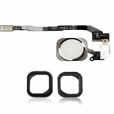 Replacement White & Silver Home Button With Flex Cable For iPhone SE With Seal