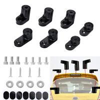 Black T-6061 Aluminum Car Rear Wing Spoiler Riser Kit  For Ford Focus ST Models