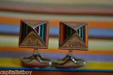 Paul Smith PS SIGNATURE STRIPE PEAK Cufflinks Mens BNIB