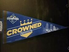 2015 World Series Kansas City Royals Crowned Premium Pennant New