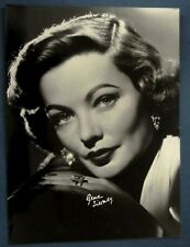 photo press original Gene Tierney portrait Frank Powolny 1962 63 signé autograf
