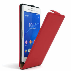 Case for Sony Xperia Z3 Flip Case cover Cover Red