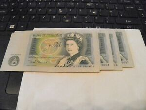 £1 BANK OF ENGLAND ONE POUND £1 NOTE CRISP Uncirculated Mint Consecutive
