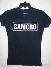 NEW Women's Son's Of Anarchy SAMCRO T-Shirt *SMALL* (Navy Blue)*