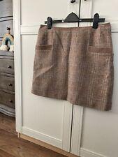 Womens Joules Tweed Wool Skirt Size 14