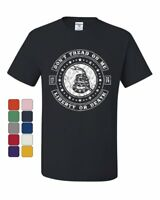 Don't Tread on Me T-Shirt Liberty or Death Gadsden Rattlesnake Tee Shirt
