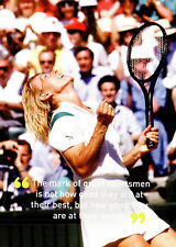 (P126) Postcard Tennis Martina Navratilova in 1987