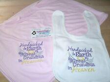 Handpicked for Earth by my Great Grandma in Heaven Baby Infant Blanket & Bib Set