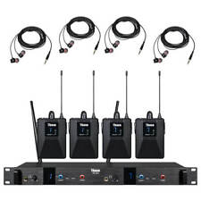 4 Receivers Wireless In Ear Monitor System Pro Audio UHF 2channel  Stage Studio