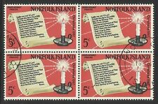 NORFOLK IS 1967 CHRISTMAS. BLOCK OF 4 FINE USED/CTO
