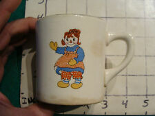 Original Vintage Childs cup/mug: 1941 Raggedy Ann Johnny Gruelle co. CROCKSVILLE