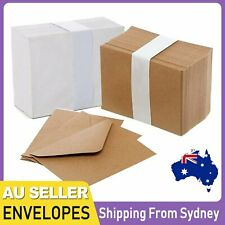 UP100x Mini Envelopes Small White Kraft Brown 82mm x 115mm Wedding RSVP Cards Au