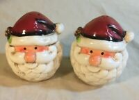 Santa Salt And Pepper Shakers Vintage - Santa Heads - Christmas Decor - Open Box